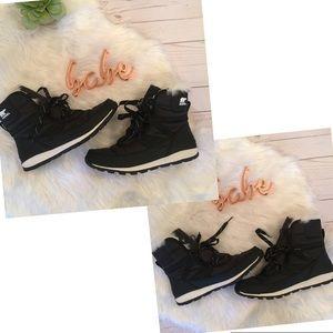 c0c4e5b505c1fa Sorel Shoes - Sorel Whitney short lace up black boots